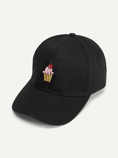 Cute Ice cream Embroidered Baseball Cap