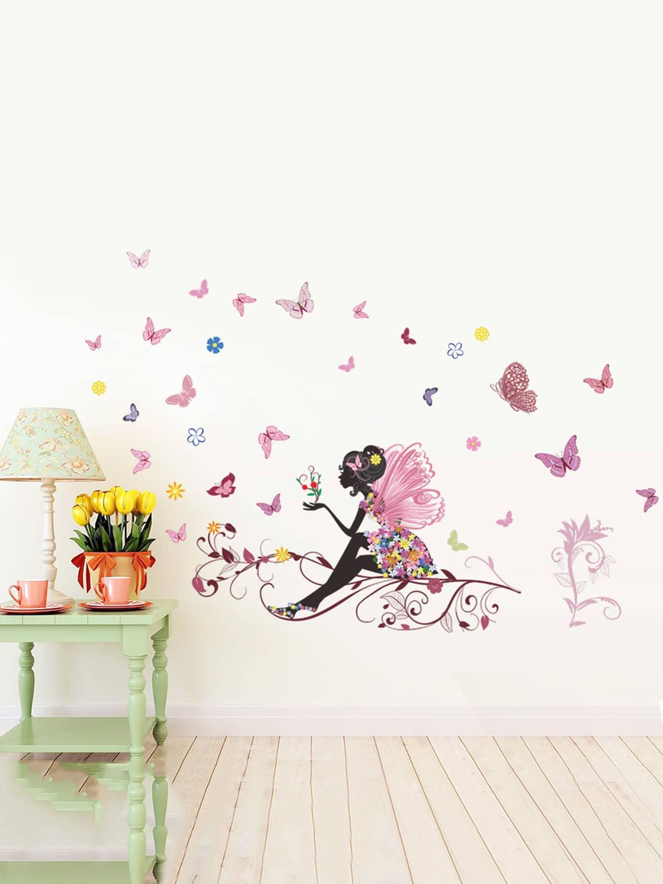 Flower Fairy Wall Sticker все цены