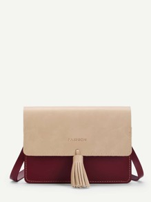 Tassel Detail Chain Bag
