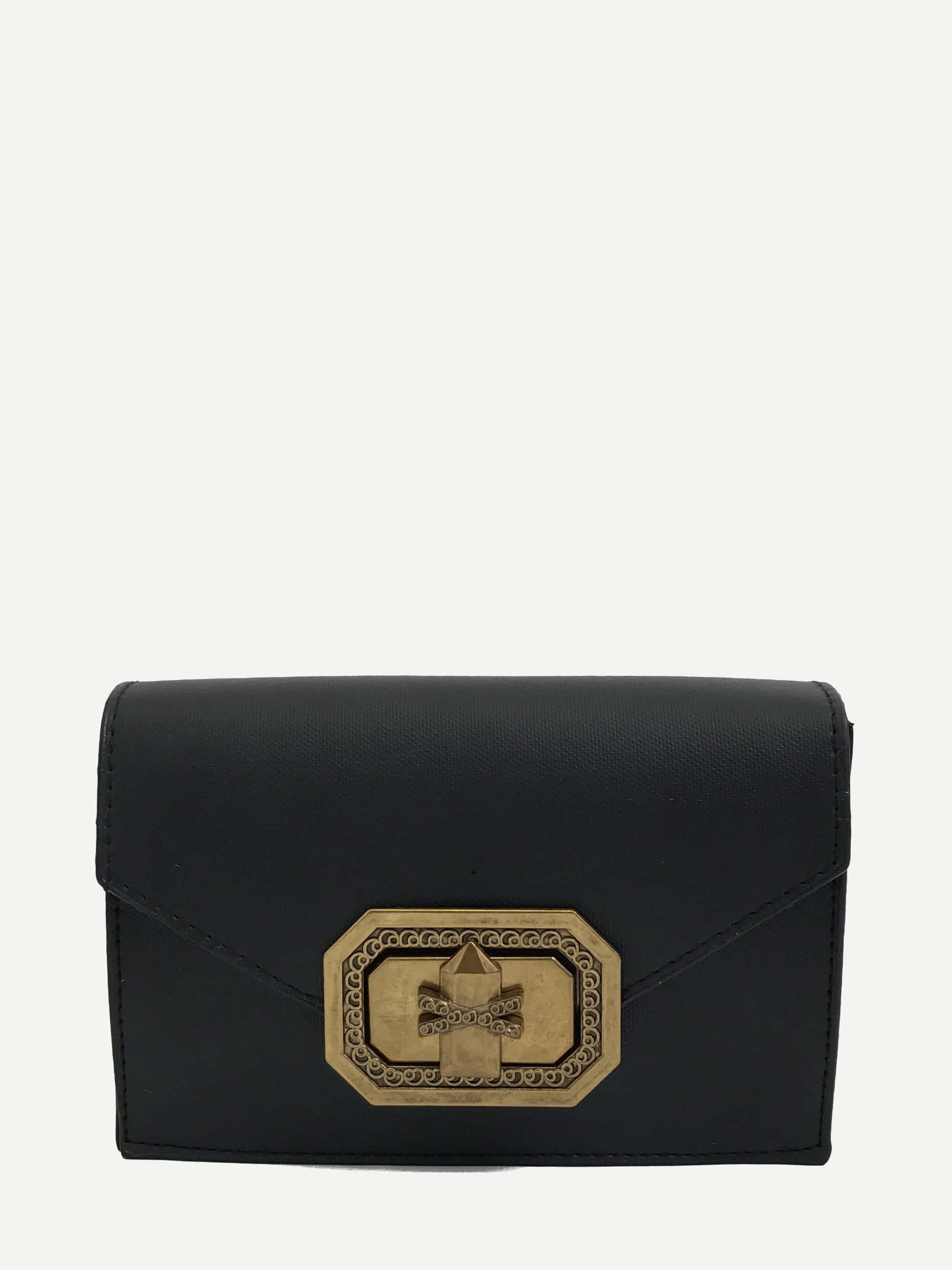 PU Crossbody Bag With Adjustable Strap