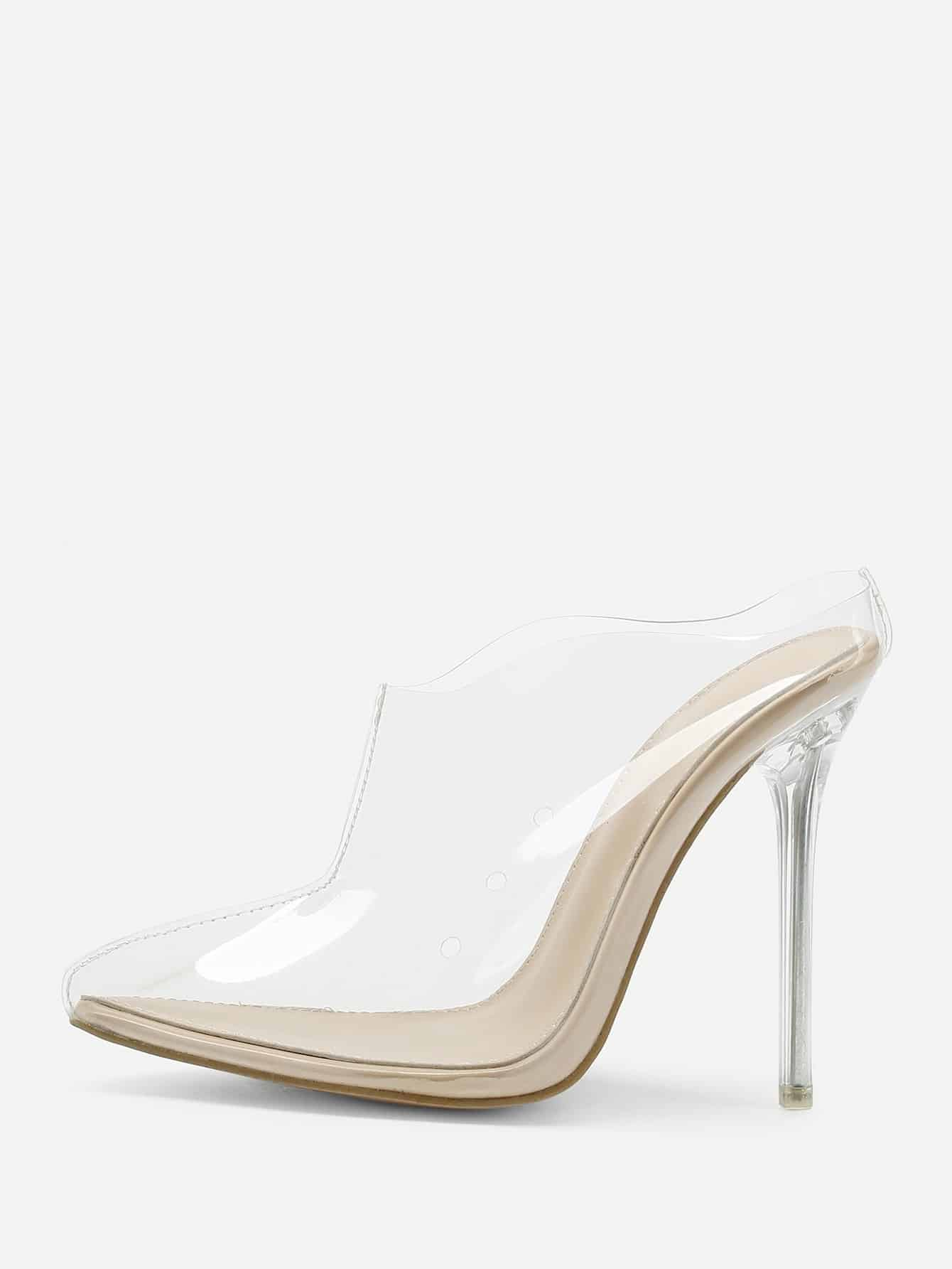 Transparent PVC Stiletto Heels