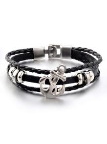 Woven Design Layered Bracelet