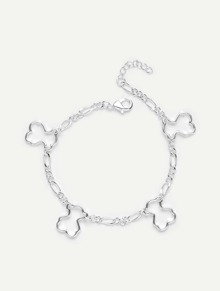 Hollow Charm Detail Link Bracelet