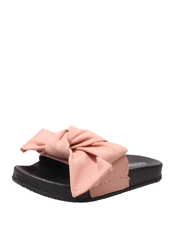 Bow Decorated Flat Sandals цена