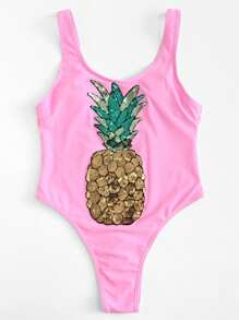 Sequin Pineapple Swimsuit