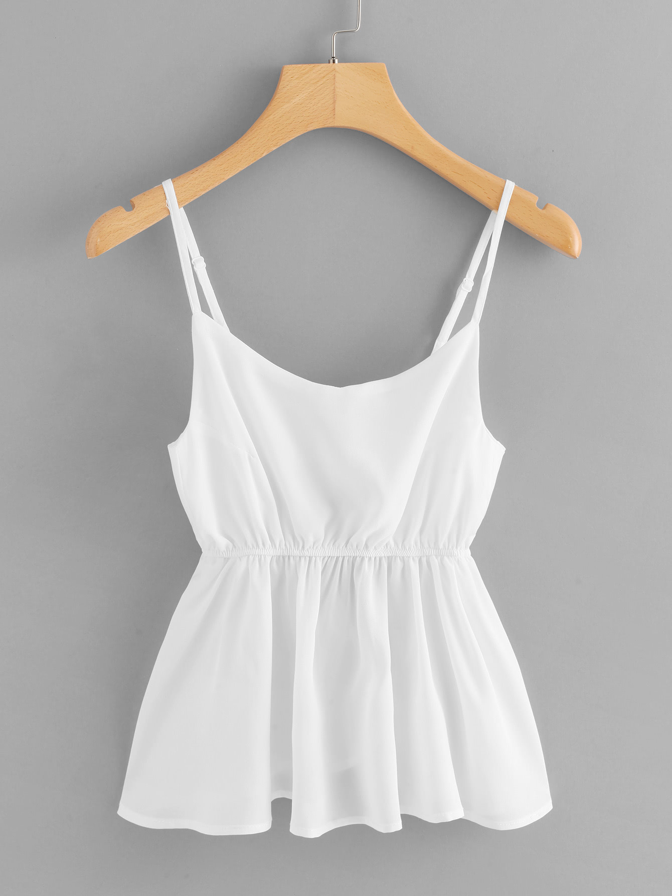 Cut Out Knot Back Cami Top