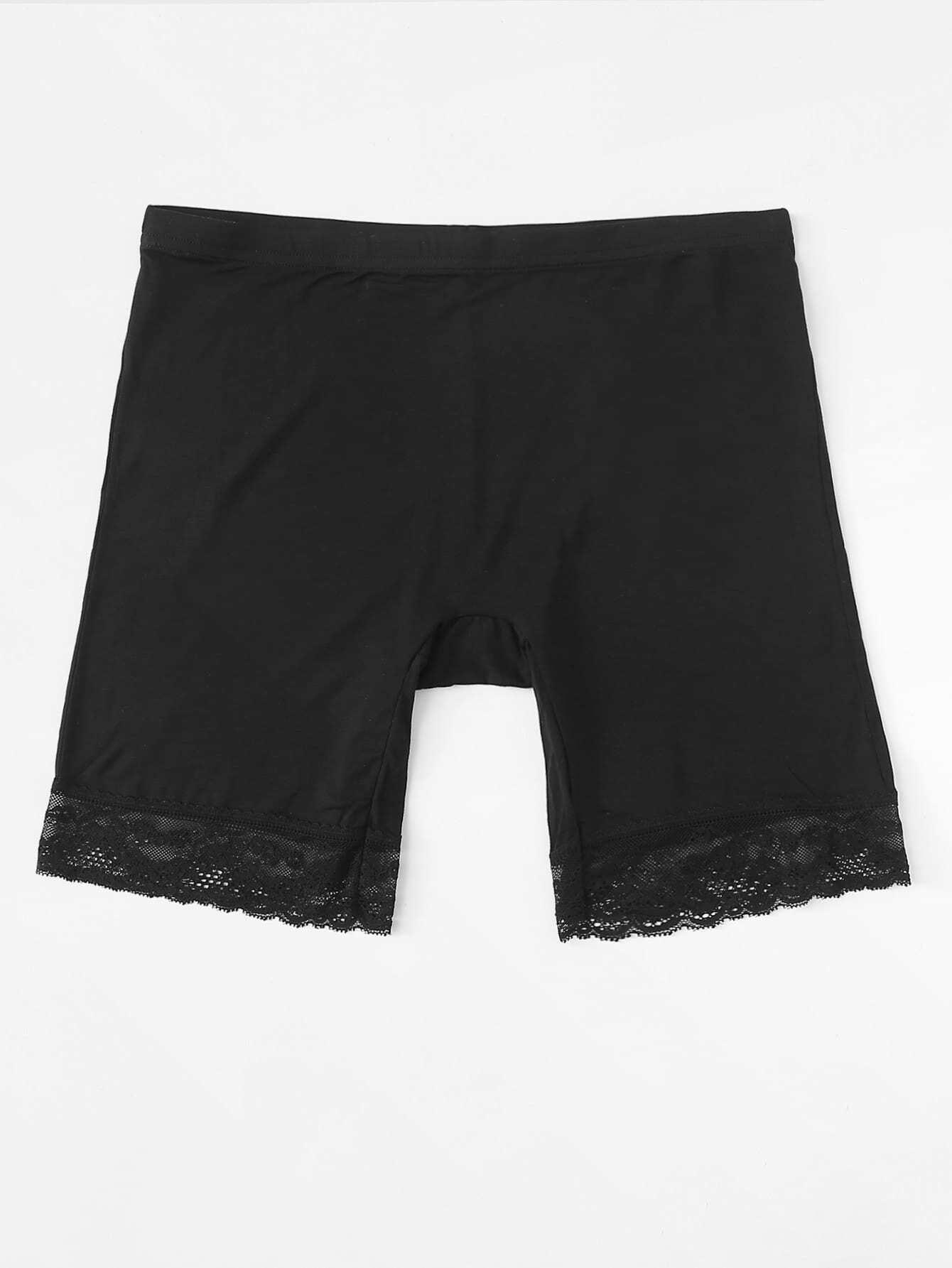 Lace Hem Shortie Shorts lace hem shorts