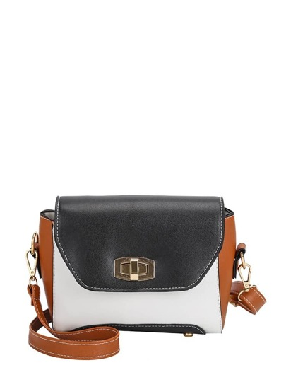 Borsa a tracolla Colorblock Twist Lock