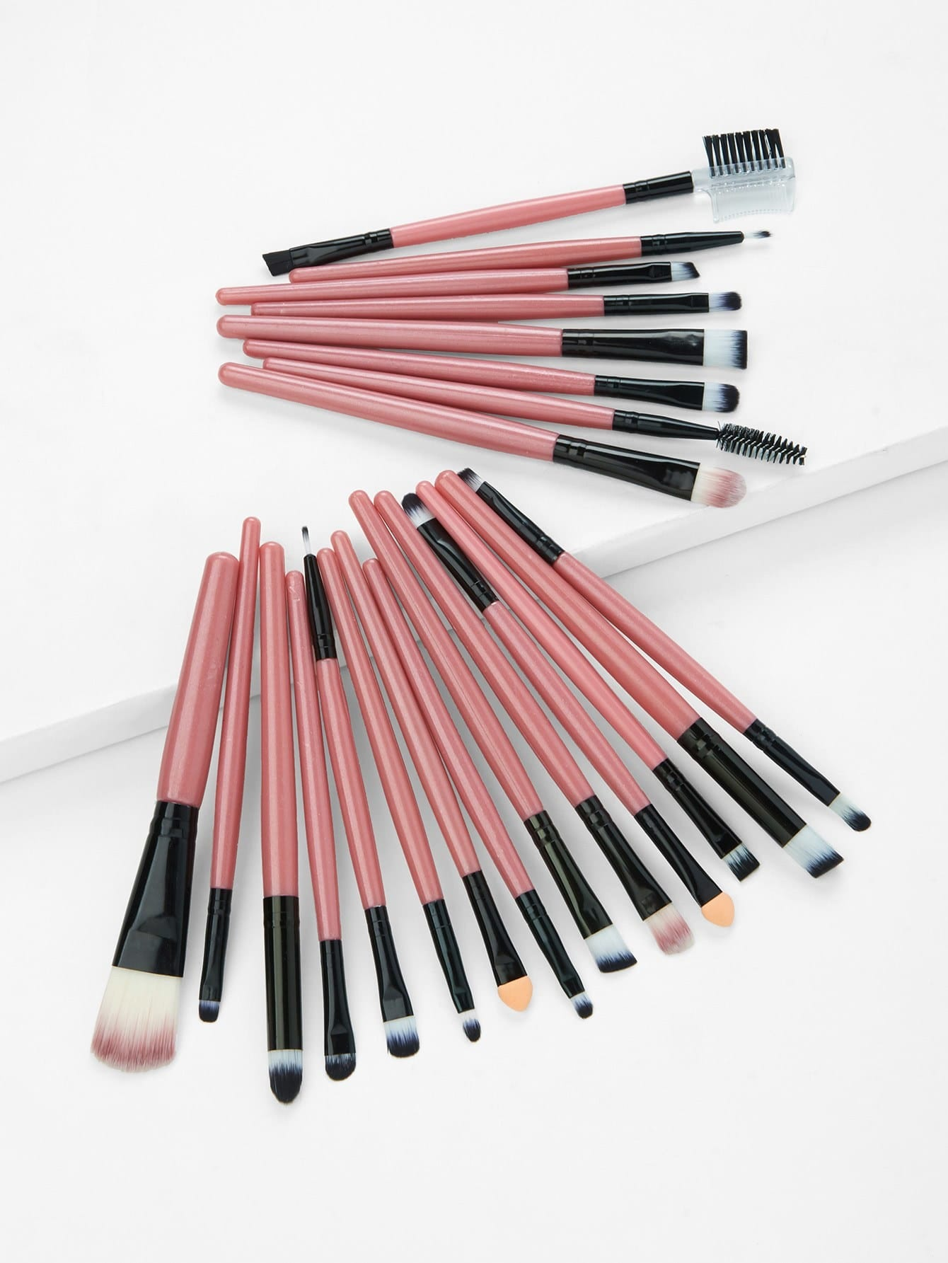 Two Tone Handle Makeup Brush Set 22Pcs drop crotch loose two tone pants