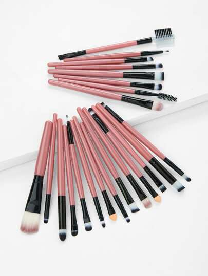 Two Tone Handle Makeup Brush Set 22Pcs