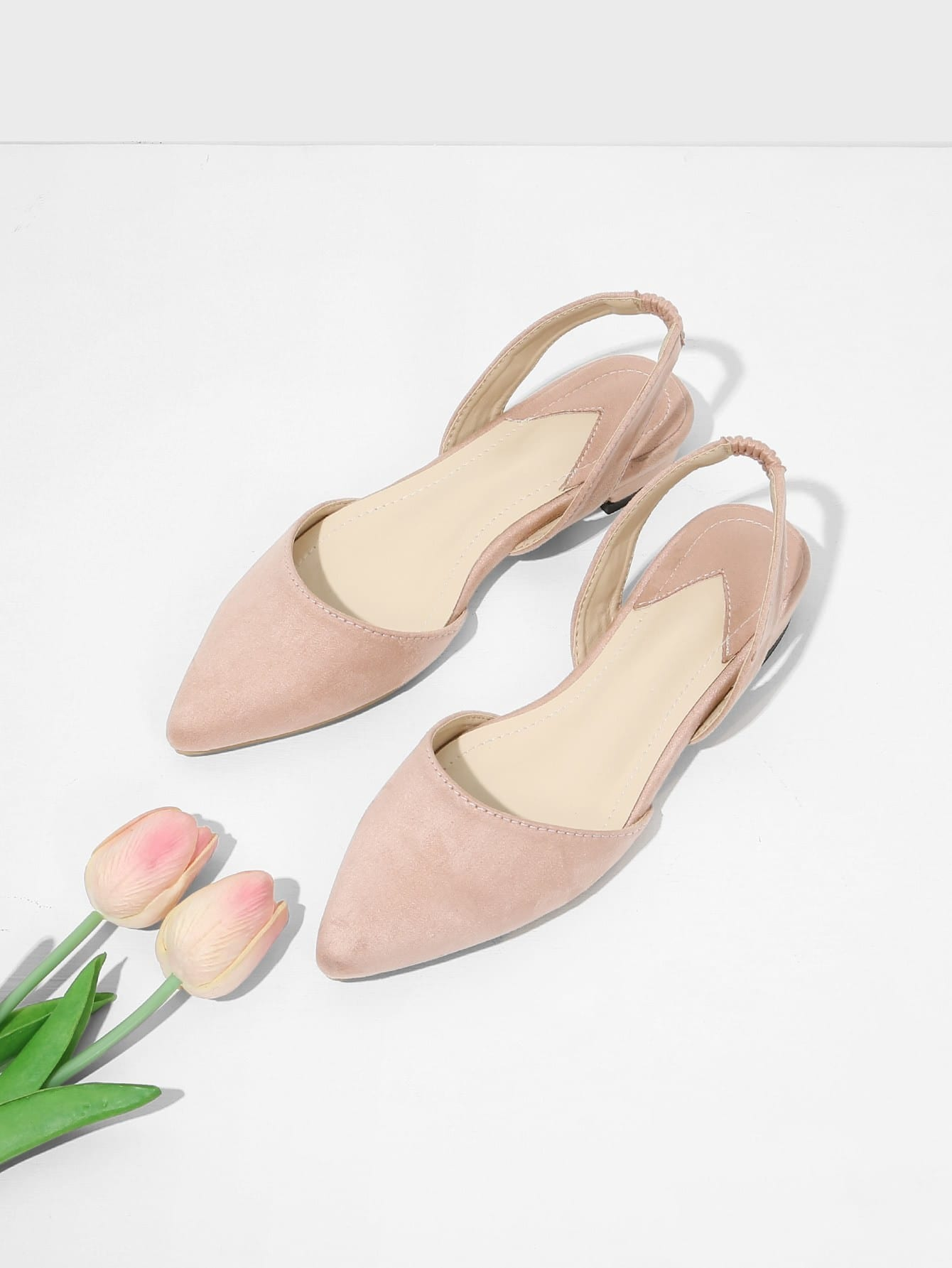 Pointed Toe Suede Slingback Flats mipow btl300 creative led light bluetooth aromatherapy flameless candle voice control lamp holiday party decoration gift