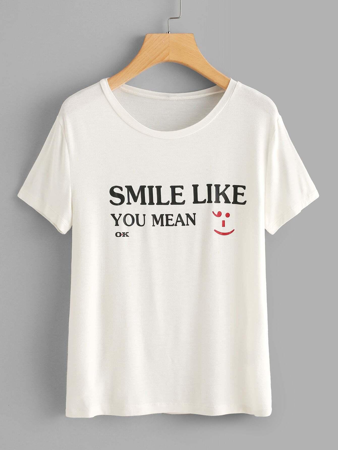Slogan Print Slub T-shirt lace panel graphic slub t shirt