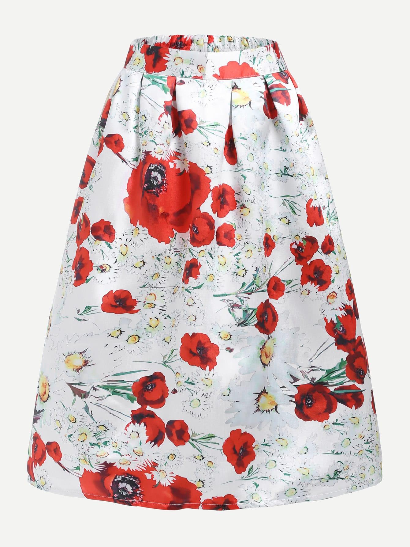 All Over Florals Skirt all over florals split hem skirt