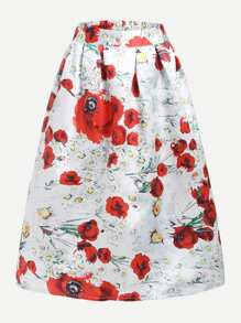 All Over Florals Skirt