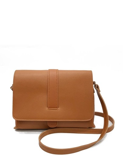 PU Flap Bag With Adjustable Strap