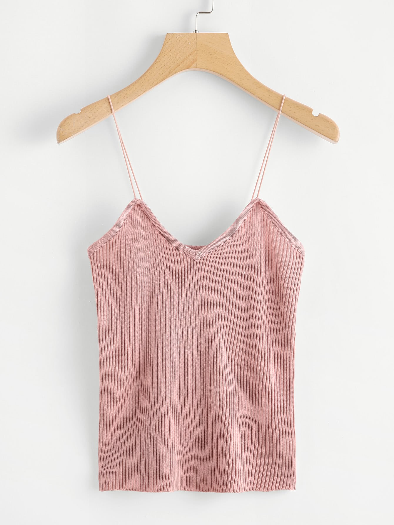 Ribbed Knot Cami Top