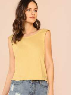 Tie Back Tank Top MUSTARD