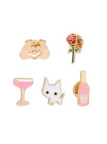 Cartoon Cat Pin Set 5pcs
