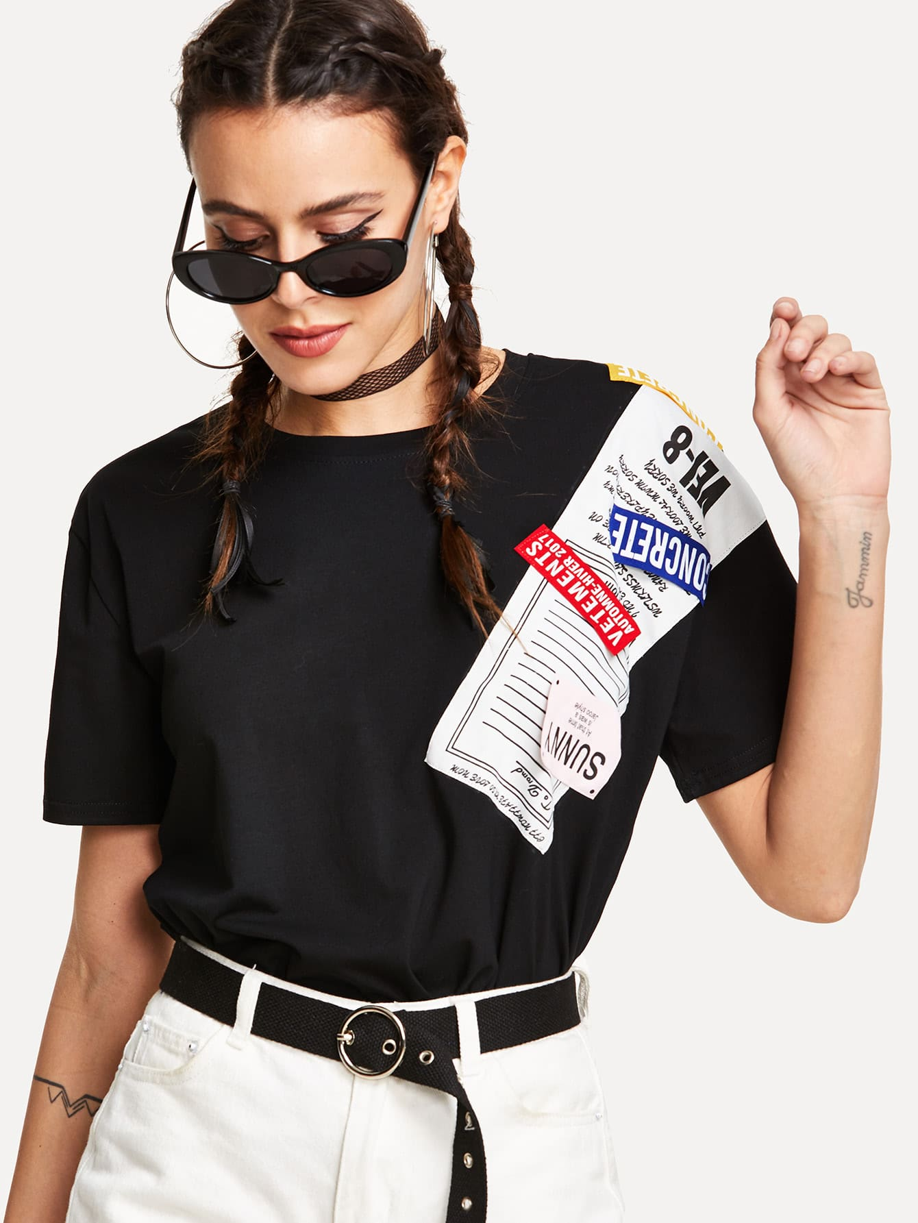 Graphic Print Tee graphic print fit