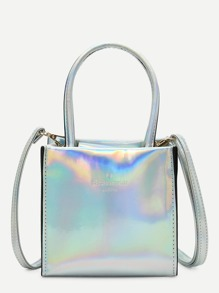 Double Handle Iridescence Bag