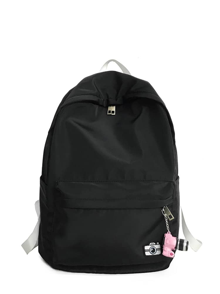 Pocket Front Backpack With Camera Charm