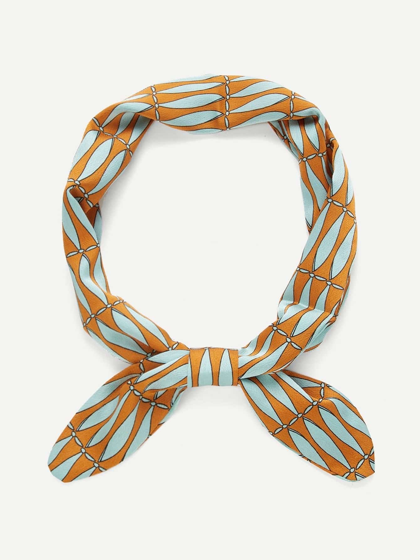 Two Tone Twilly Scarf two tone heart