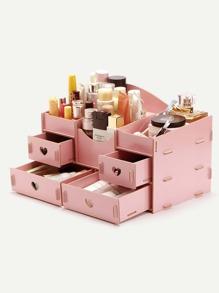 Wooden Desk Cosmetic Makeup Organizer