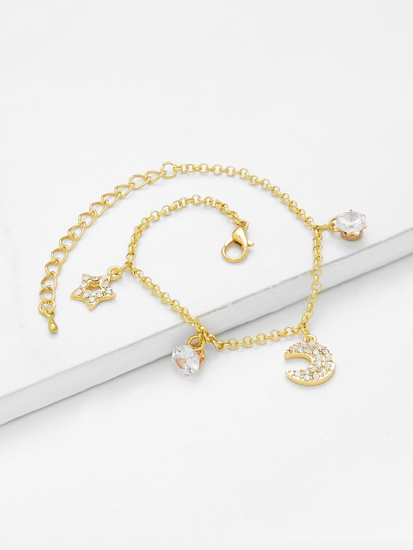 Star & Moon Charm Link Bracelet все цены