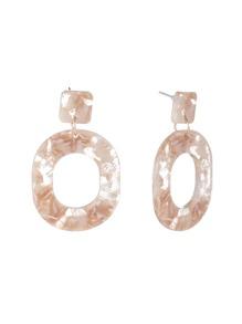 Ring Design Drop Earrings