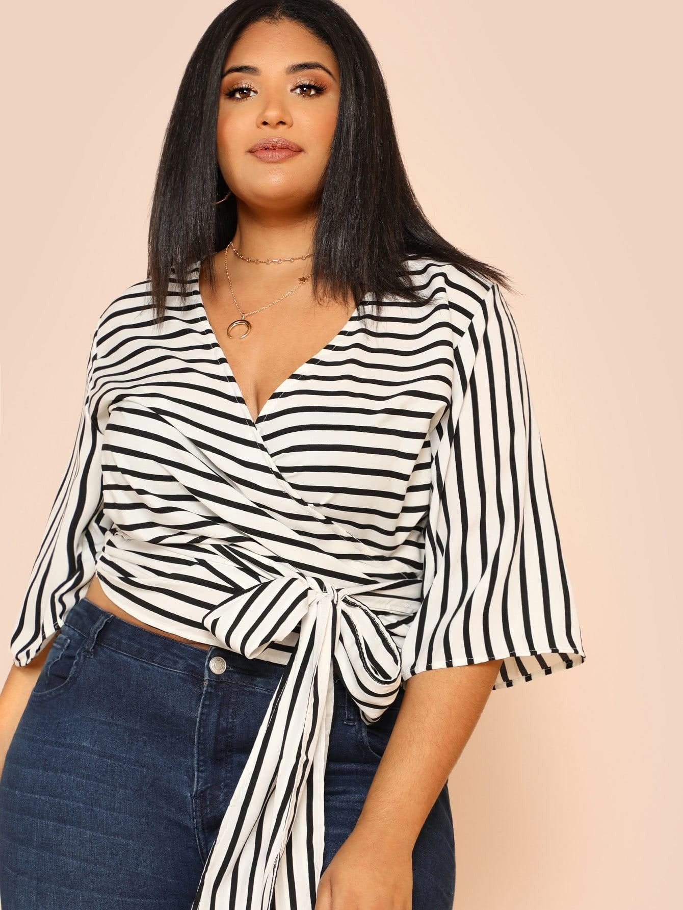 Kimono Sleeve Belted Wrap Top tryp madrid centro ex tryp washington 3 мадрид