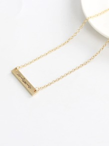 Bar Pendant Chain Necklace