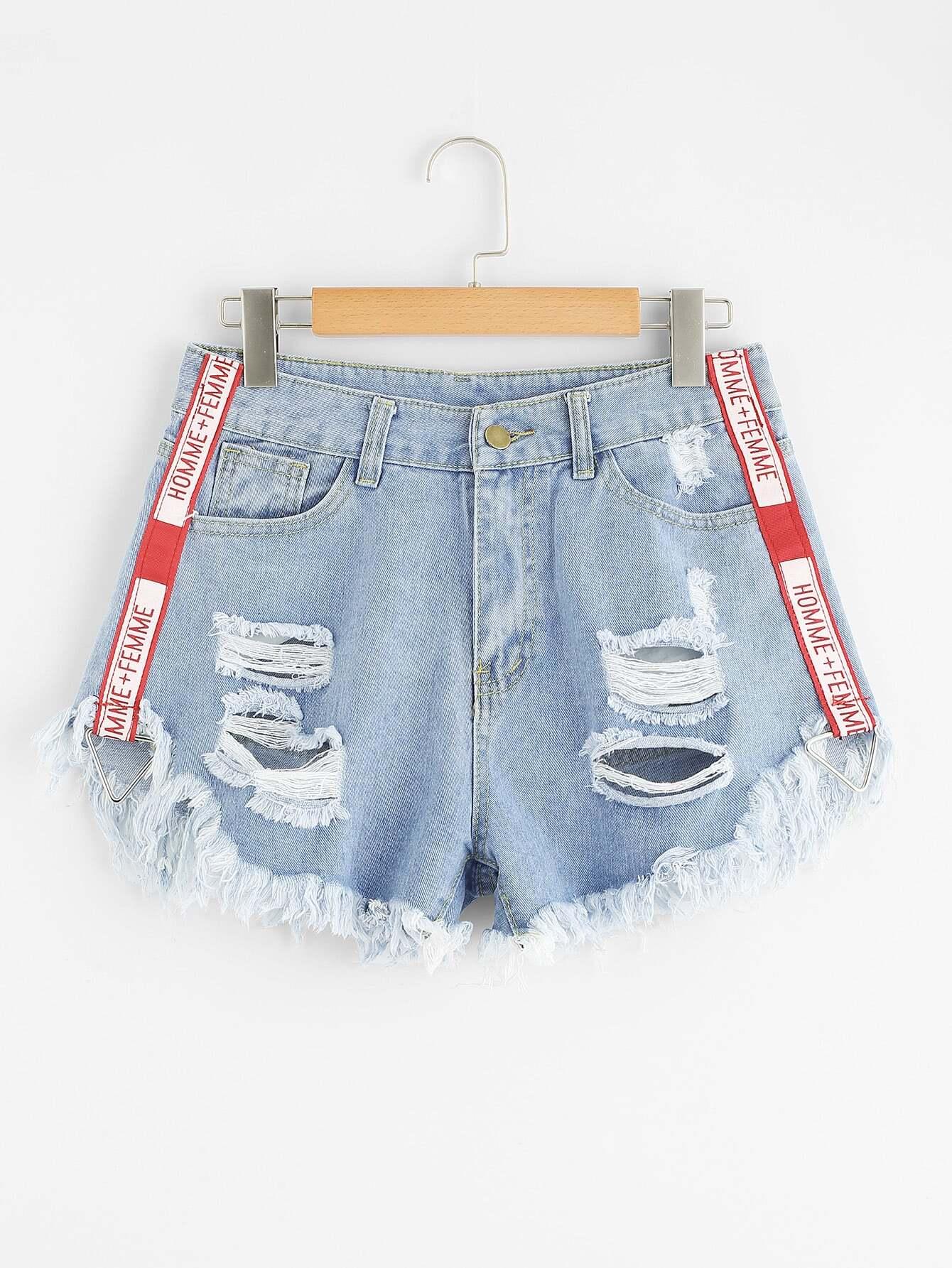 Шорты джинсовой ткани SheIn