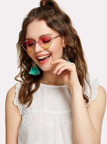 Heart Lens Ombre Sunglasses