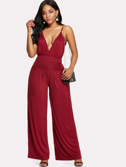 Slip Wide Leg Pants