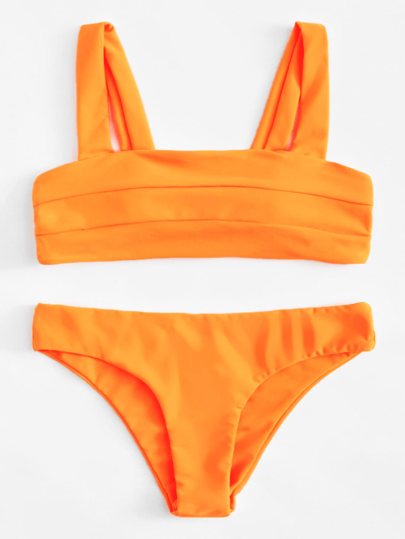 Double Strap Seam Bikini Set
