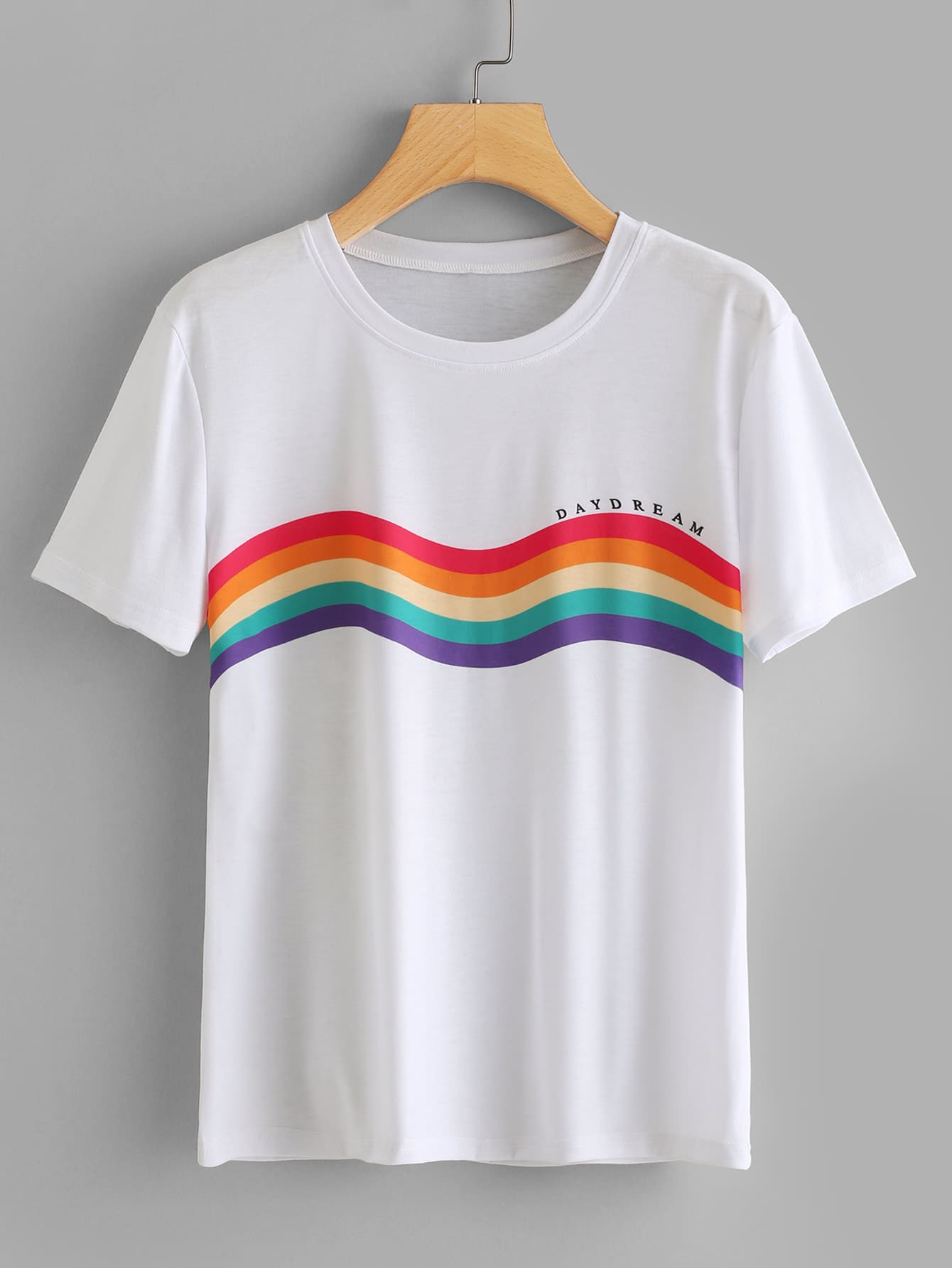 все цены на Rainbow Stripe Print T-shirt