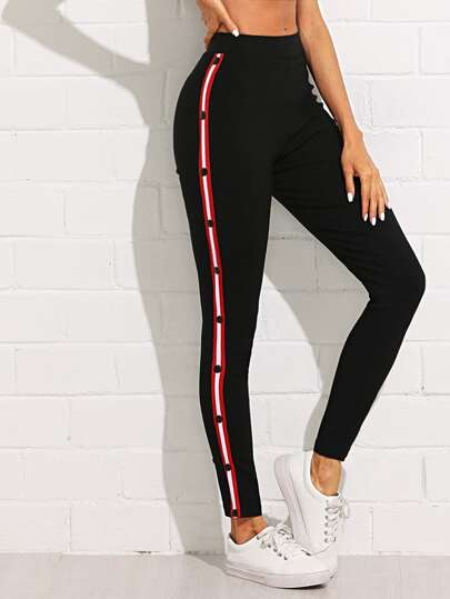 Stripe Tape Side Jeans