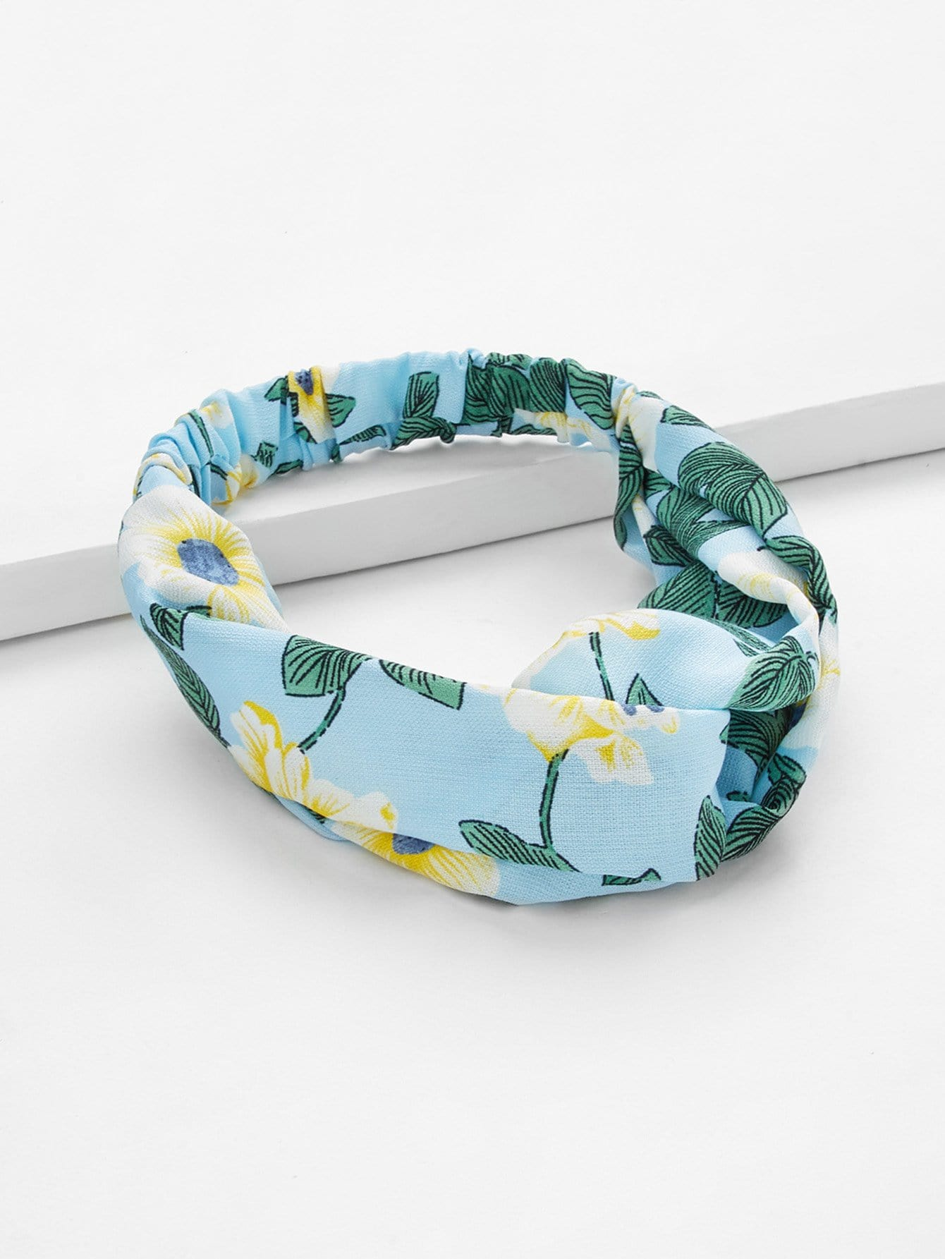 Floral Print Twist Headband tropical print twist headband