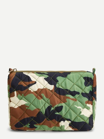 Camouflage Printed Makeup Bag