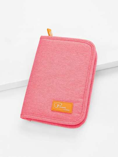 Logo Patch Canvas Wallet