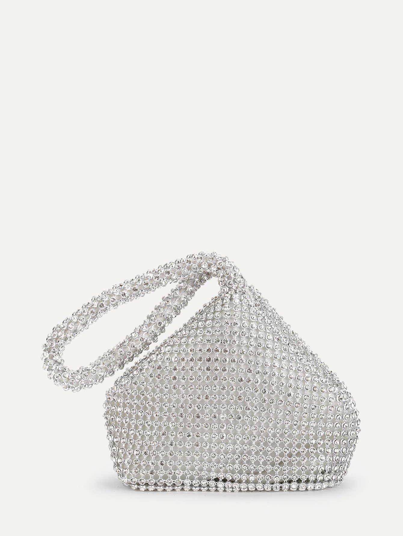 Rhinestone Embellished Clutch bag 2pcs tiny rhinestone clover embellished hairpins