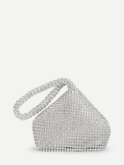 51be72e155 Rhinestone Embellished Clutch bag