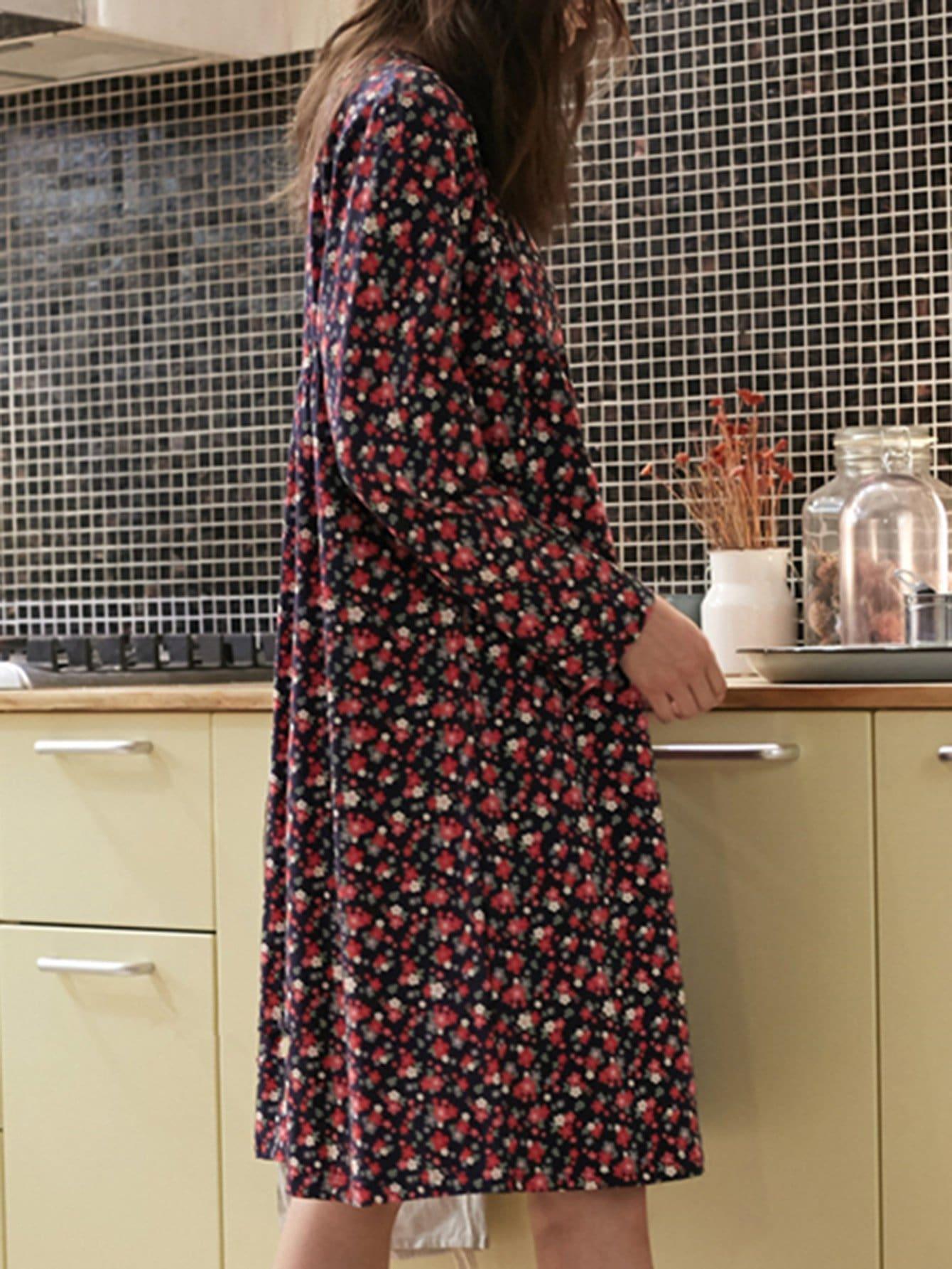 Calico Print Dress