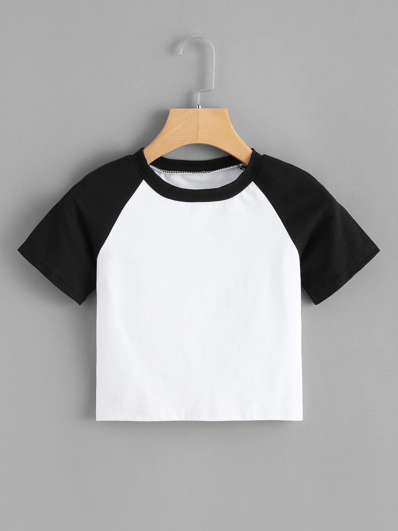 Colorblock Raglan Sleeve Tee