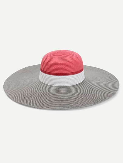 Sombrero con diseño color block