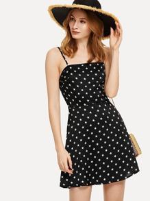 Star Print Fit & Flare Cami Dress