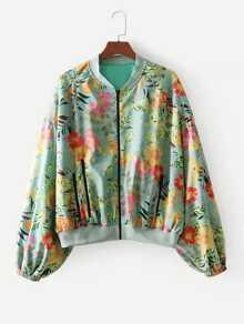 All Over Florals Drop Shoulder Jacket