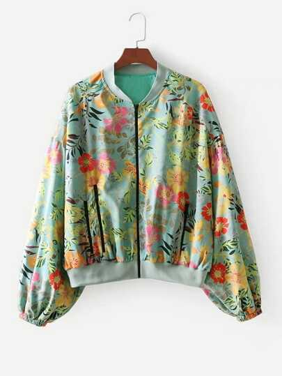 All Over Florals Drop Shoulder Jacket