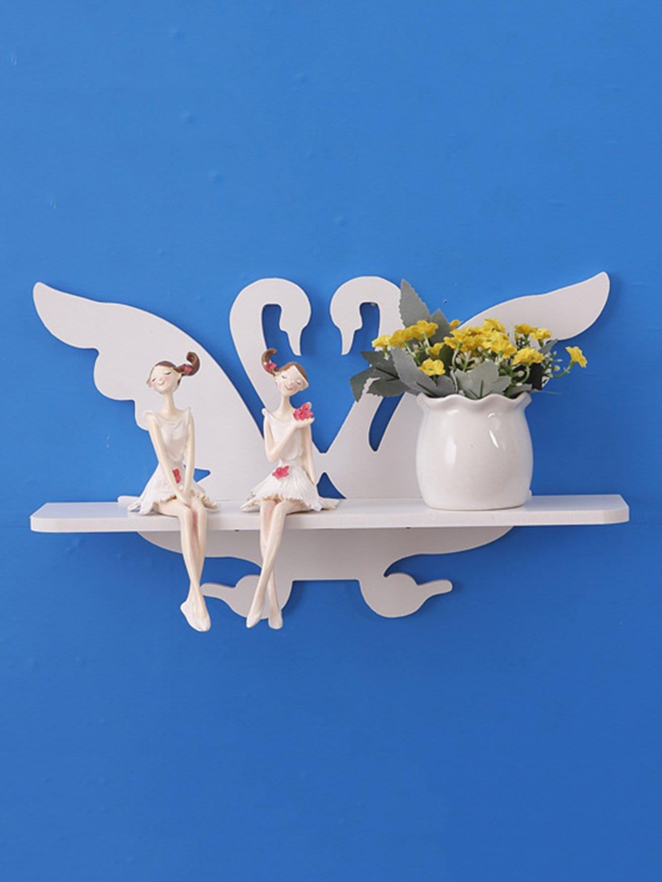 Couple Swan Wall Mounted Rack couple swan wall mounted rack