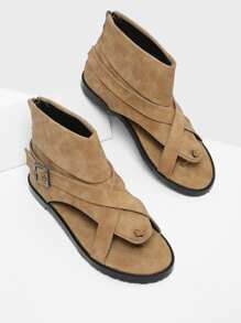 Criss Cross Strap Toe Post Sandals